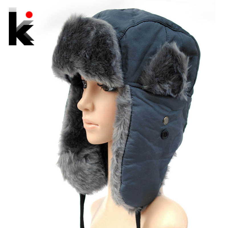 Free shopping 2014 Winter hat lei feng Cap basic thickening ear protector  cap snow hats for women and man caps thermal ffa0070a552