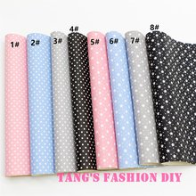 16pcs--20x22cm printing dots/stars Leahter/Synthetic leather (can choose color)