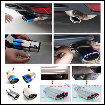 Stainless Steel Auto Car Exhaust Muffler Tip pipe cover Tail For BMW E34 F10 F20 E92 E38 E91 E53 E70 X5 M M3 E46 E39 E38 E90 image
