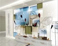 Beibehang papel de parede HD 3d stereo TV Teknolojisi Soyut lotus yumuşak oturma odası duvar resimleri duvar kağıdı