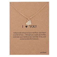 XUSHUI Игристые сердце я тебя люблю Золотой Кулон Колье Ожерелья & Подвески Женщины Себе Ожерелье Ювелирных Изделий 2017