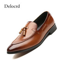 Plus Size 38 48 Luxury Patent Leather Men Tassel Loafers Pointed Toe Slip On Men Moccasins Oxford Shoes Black Delocrd