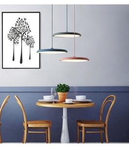 Image 4 - Современный художественный дизайнерский светодиодный подвесной светильник НЛО, Подвесная лампа с круглой пластиной для столовой, гостиной, спальни, стола, кабинета, подвесной светильник