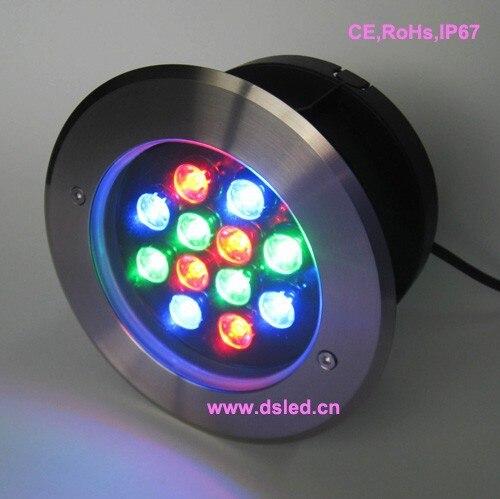ip68 12 w ao ar livre rgb de alta potencia diodo emissor de luz embutida levou