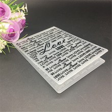 Embossing-Folders-Template Scrapbook-Card Paper-Craft Packing-Decoration Plastic LOVE