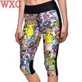 Pikachu Pokemon Go Cosplay Mujeres Stretch Pantalones Leggings Aptitud Flacos Pantalones Traje WXC