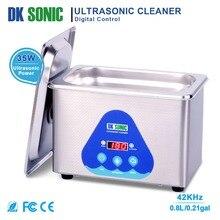 DK sonic Digital 800 мл Ultra sonic Cleaner 35 Вт 42 кГц Бытовая ультразвуковая ванна для ювелирных изделий часы цепи очки монеты стоматологические