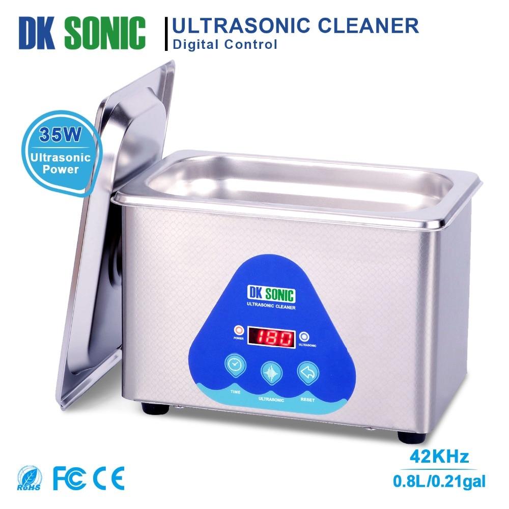 DK sonic Digital 800 мл ультра sonic Cleaner 35 Вт 42 кГц бытовой ультразвуковая ванна для ювелирные часы цепи очки монеты зубные