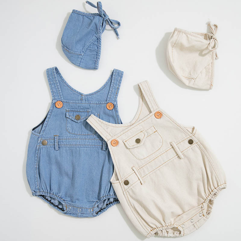 Infant Clothing Baby   Romper   Boys Unisex Kids Girls Overalls Newborn Clothing Denim Baby Boys   Romper   Loose Toddler Jumpsuit