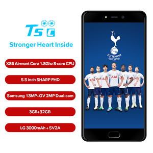 "Image 3 - LEAGOO T5c 4G LTE Smartphone Android 7.0 SC9853 Octa Core 5.5""FHD 3GB RAM 32GB ROM 13MP Dual Back Cams Fingerprint Mobile Phone"