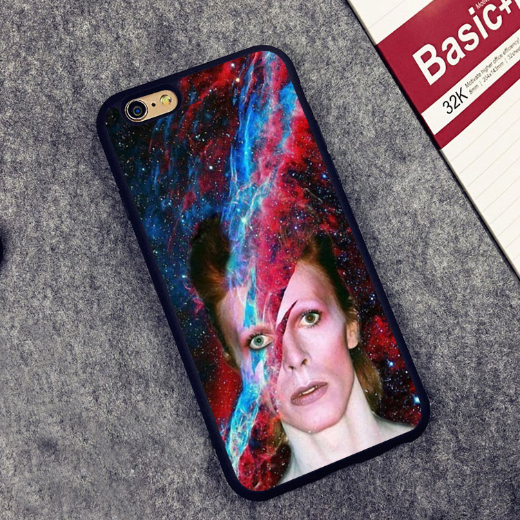 David Bowie Robert Jones Soft Silicone Full Protective case Cover For iPhone X 8 7 7Plus 6 6S Plus 5 5S SE ...