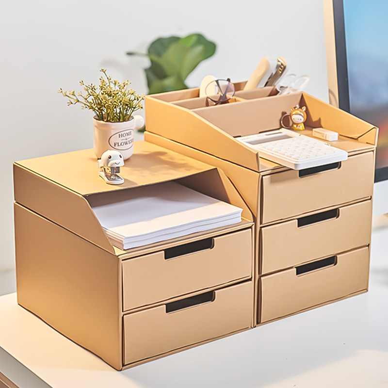 Storage Drawers Standing Desk File File-Finishing-Box Paper-Type Multi-Layer 1PC Simple-Book
