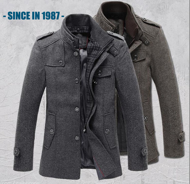 ФОТО New Style Autumn and Winter Jackets Men Wool Jacket men's slim fit thickening Winter coat men,men spring jaket brand 558