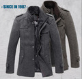 New Style Autumn and Winter Jackets Men Wool Jacket men's slim fit thickening Winter coat men,men spring jaket brand 558