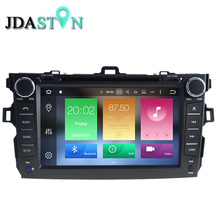 JDASTON 8 INCH 2 DIN 2GB Android 6.0 Car DVD Player For TOYOTA COROLLA 2007-2012 Octa Core 1080P Radio Multimedia GPS Navigation