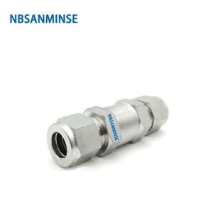 Image 3 - CV OD/F Mini hat çek valf 6000 Psi paslanmaz çelik 316L 1/8 1/4 3/8 1/2 3/4 SS çek vana NBSANMINSE