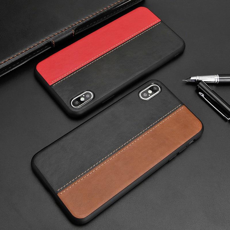 100% Kwaliteit Case Voor Iphone X Xs Max Xr 7 8 Plus Case Cover Business Pu Leer Luxe Merk Slim Anti- Klop Terug Cover Voor Iphonex 10