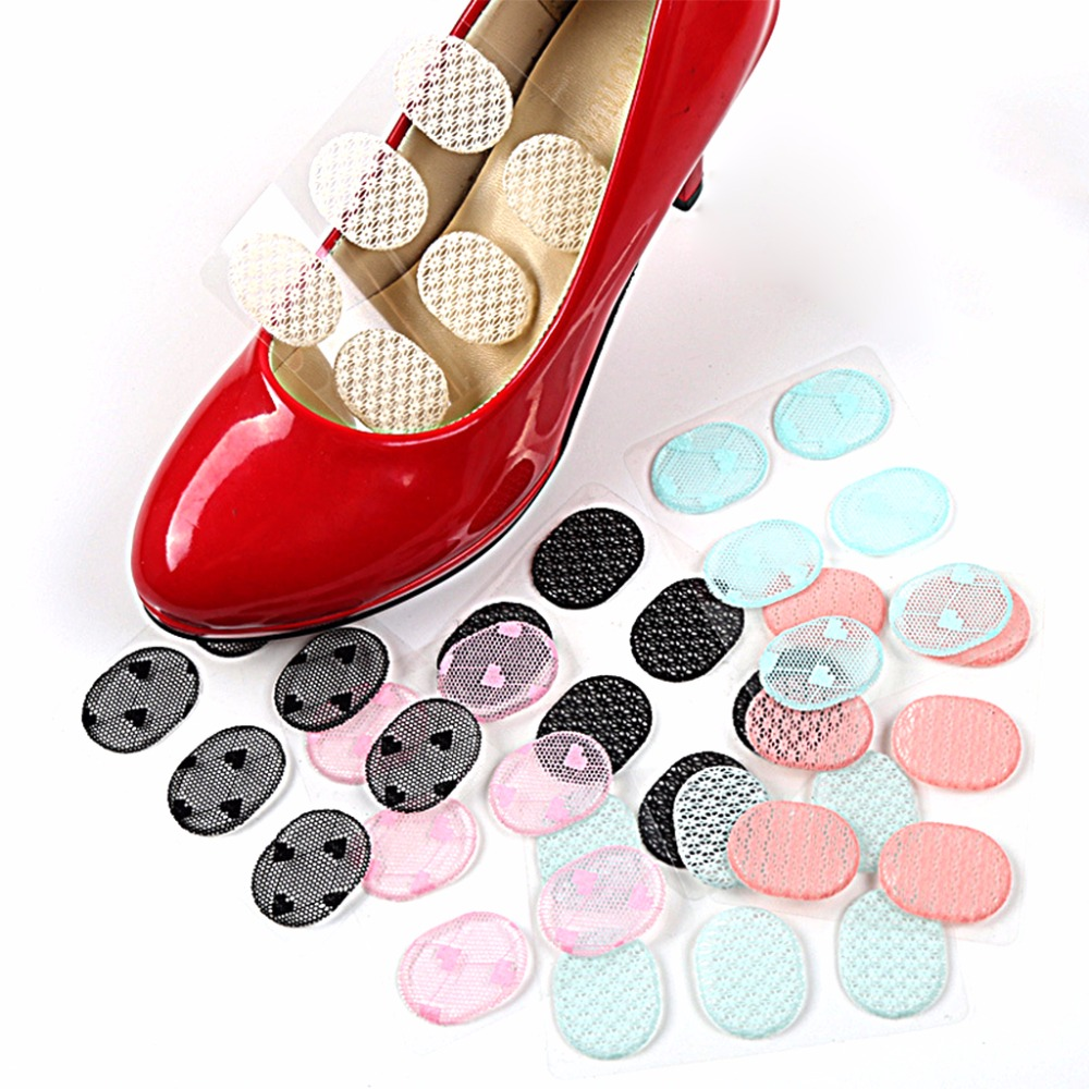 EYKOSI 6Pcs Silicone Gel Lace Shoe Insoles Inserts Pad Cushion Heel Grips Liner Protect 8QQ200385 6pcs hot sale foot care silicone gel shoe pad high heel grips round shape cushion