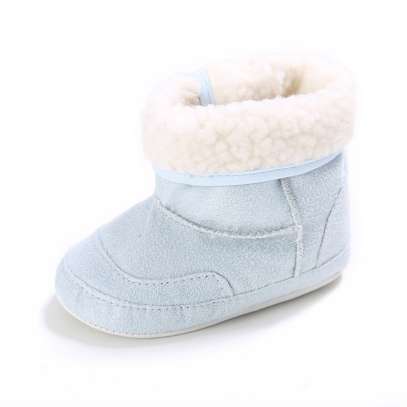 Raise Young Cotton Winter Warm Baby Girl Booties Solid Non-slip Toddler Boy Snow Boots Newborn Shoes Infant Footwear 0-18M