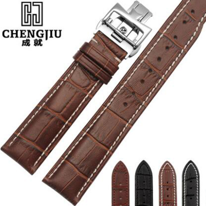 Watch Band For Blancpain Vacheron Constantin Piaget Watches Band Calfskin Leather Watchband Crocodile Lines Straps 20 22 24 mm women crocodile leather watch strap for vacheron constantin melisa longines men genuine leather bracelet watchband montre