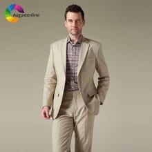 цена Slim Fit Formal Business Men Suits Wedding Tuxedos Terno Groom Wear 2 Pieces (Jacket+Pants) Groomsman Suits Blazer Costume Homme