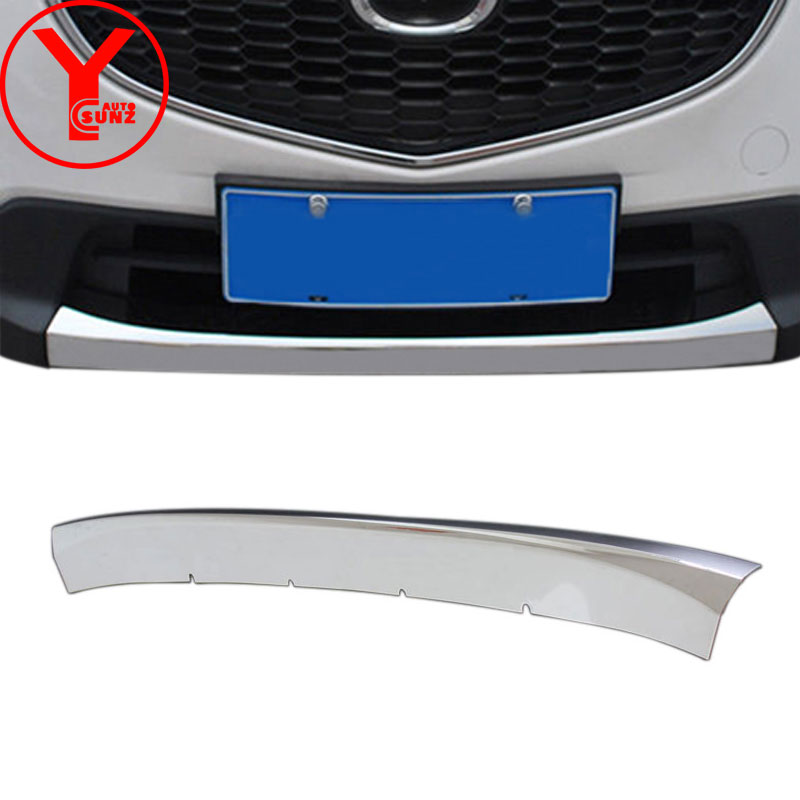 ABS car front bumper protector stickers For <font><b>mazda</b></font> <font><b>cx5</b></font> 2013 2014 <font><b>2015</b></font> <font><b>2016</b></font> car bumper protector accessories for <font><b>mazda</b></font> cx-5 YCSUNZ image
