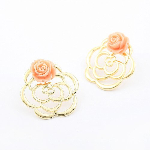 guaranteed 100%,earring jewelry, Air Double Rose Earrings,3pcs/lot