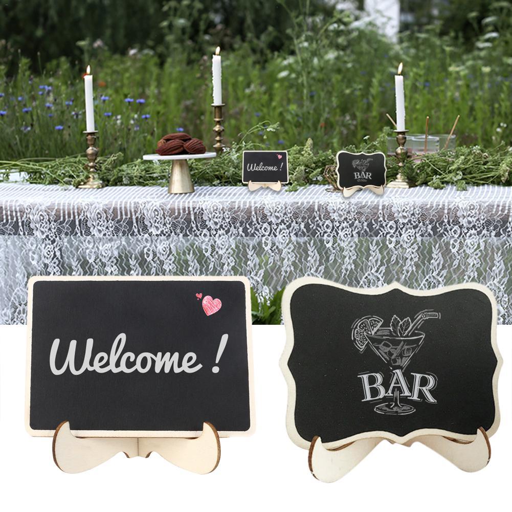 Butterfly Mini Blackboard Chalkboards Wooden Wedding Message Board Baby Shower Signs Memo Chalk Board Wedding Party Sign