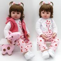 NPK Lifelike Collection Sleeping Baby Doll Reborn Silicone Body Doll Baby Simulation Doll Play House Toy Cute Doll 58CM big size