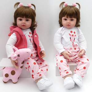 Image 1 - NPK כמו בחיים אוסף שינה תינוק בובת Reborn סיליקון גוף בובת תינוק סימולציה בובת בית לשחק צעצוע חמוד בובת 58CM גדול גודל