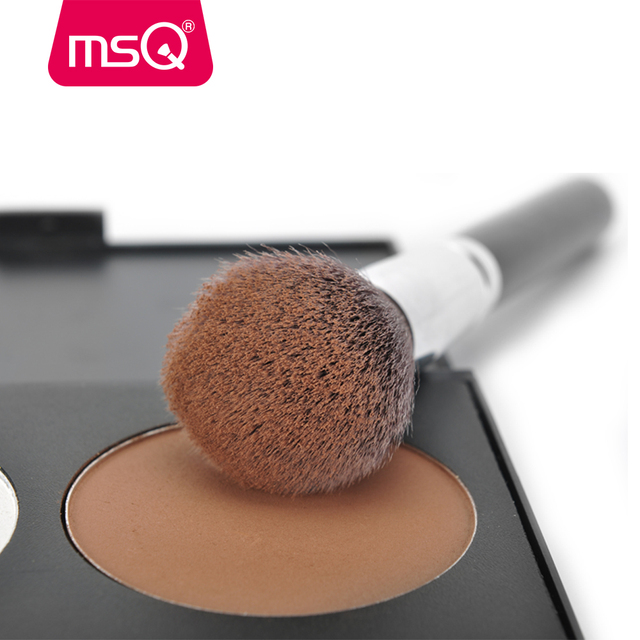 MSQ Professional 15pcs Makeup Brushes Set Powder Foundation Eyeshadow Make Up Brush Kit Cosmetics Synthetic Hair PU Leather Case 4