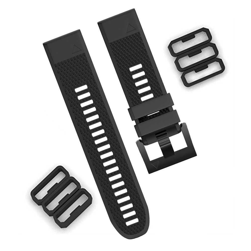 Repuesto de correa de reloj de 20mm, 22mm, 26mm, anillos para Garmin Fenix 3, 5, 5X, 5S, correa de reloj