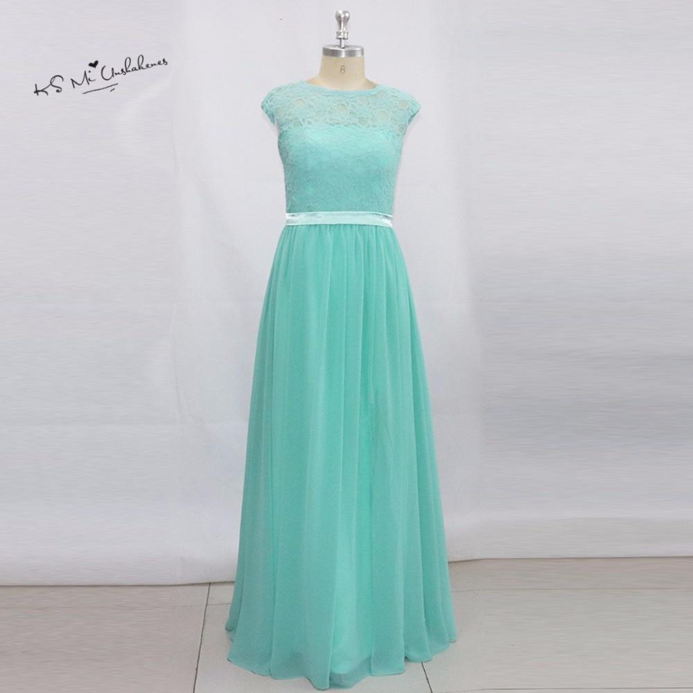 Turquoise Jurk Bruiloft.Turquoise Kant Bruidsmeisjekleding Lange Elegante Prom Bruiloft Gast