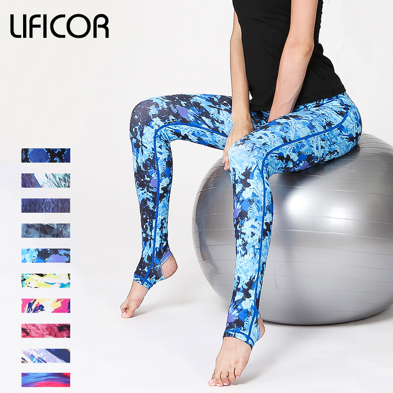 Women Yoga Pants Fitness Leggings Slim Running Sexy Sport Pants Female Athletic Pants Gym Print Tight Leggings Trousers