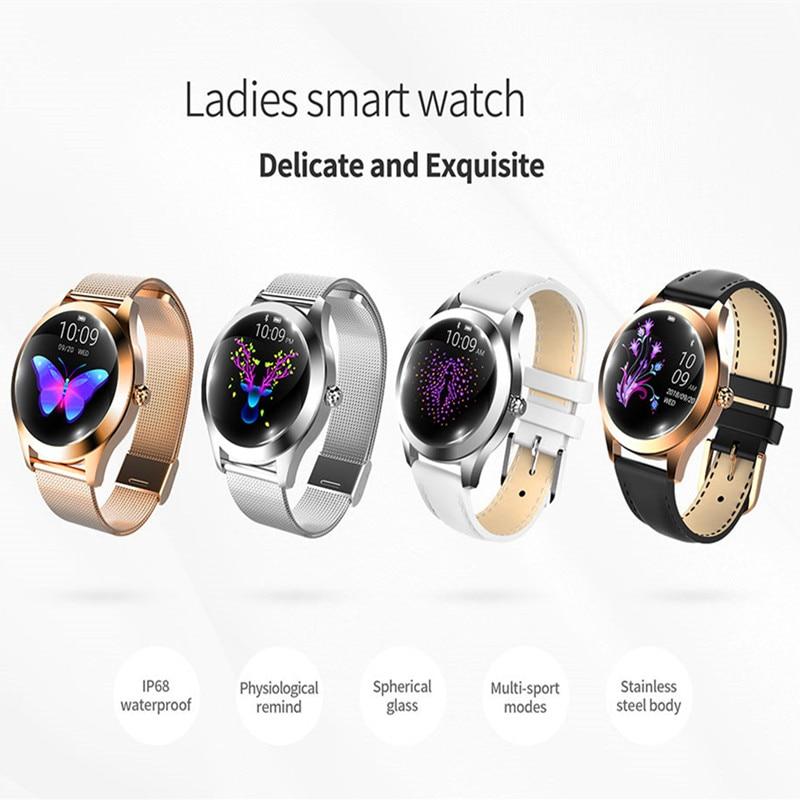 EAGOOD mode Sport métal montre intelligente femmes femme physiologique Cycle Fitness Tracker haut de gamme dame petite amie cadeau montre-bracelet