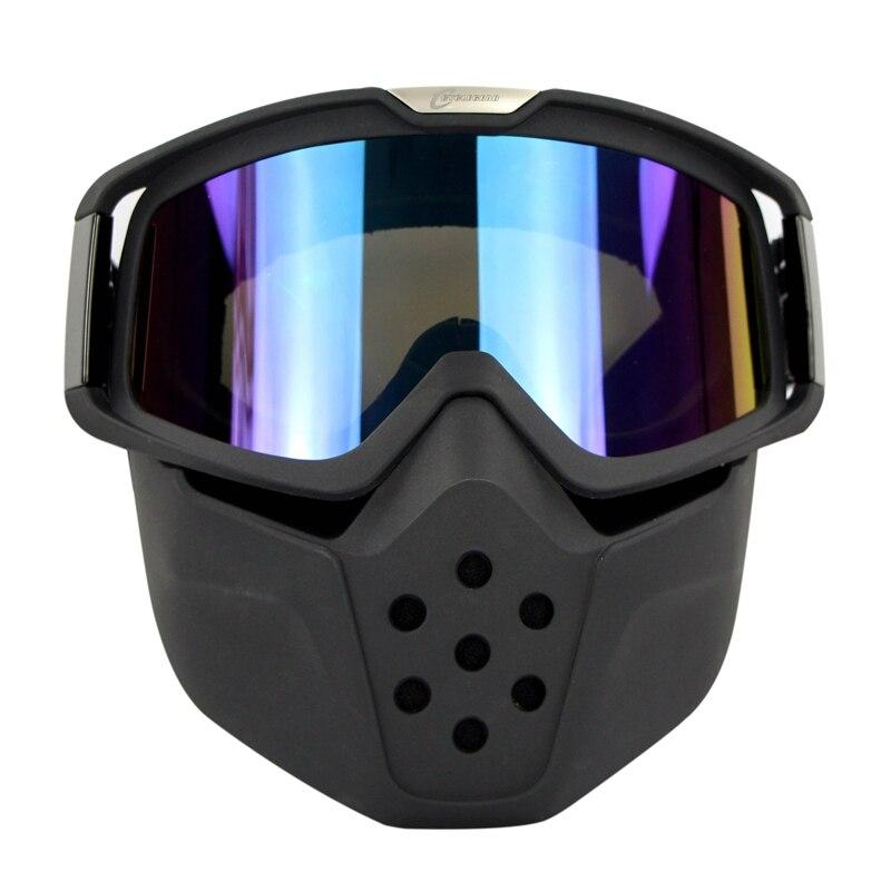 Высокого класса маска мотокросса Винтаж шлем установки Ретро мотоциклетный шлем щит Gafas Велоспорт Лыжный спорт Сноуборд очки