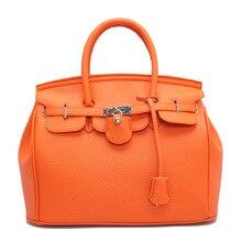 Casual Tote Buckle Lock Handbag Lichee Pattern Bags with zipper 30CM White Orange Grey Pink Black Blue Red Brown Crossbody