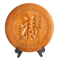Peach wood carving crafts and gifts decoration furniture accessories Peach Shaped Mantou Kanpan sent the old man sent to the le