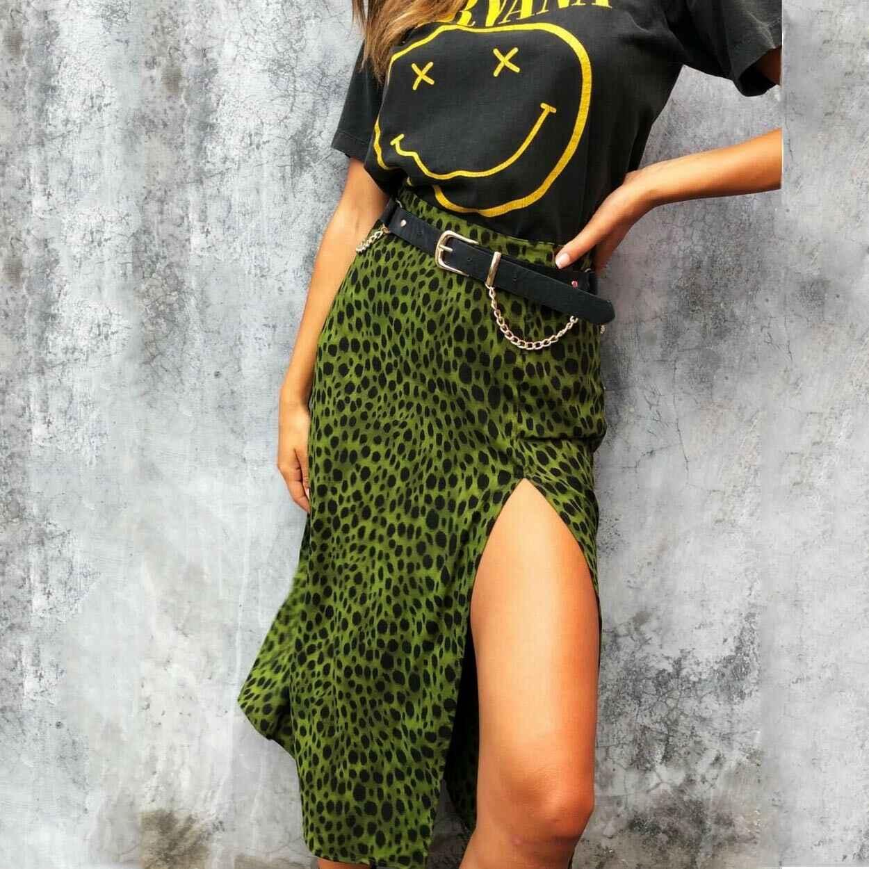 Модное женское леопардовое платье без рукавов с v-образным вырезом и пуговицами, летнее сексуальное короткое пляжное платье с разрезом