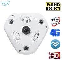 Wireless IP Camera 3G 4G Sim Card 1080P HD Security Wifi Camera Indoor Home Surveillance 360 Degree Ip Camera Two Way Audio Cam