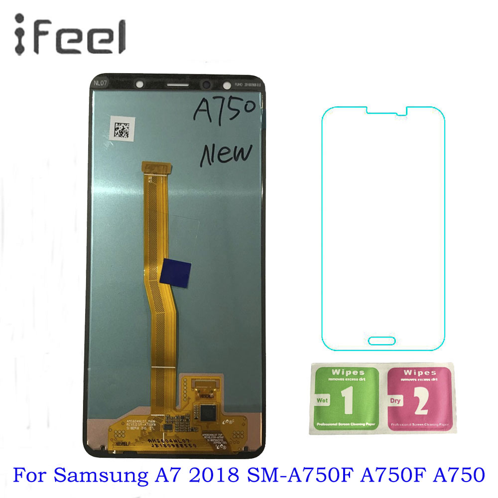 6.0 For Samsung Galaxy A7 2018 SM-A750F A750F A750 Display LCD Touch Screen Digitizer Assembly Sostituire 100% Tested Lcd6.0 For Samsung Galaxy A7 2018 SM-A750F A750F A750 Display LCD Touch Screen Digitizer Assembly Sostituire 100% Tested Lcd