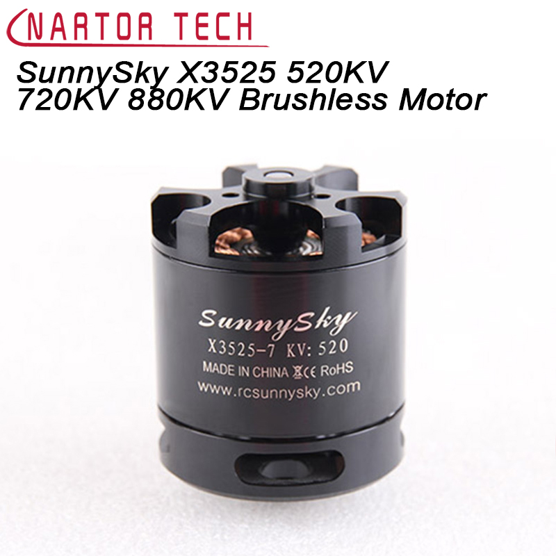 Original SunnySky X3525 520KV 720KV 880KV Brushless Motor X series for FPV Multicopter RC Quadcopter 1pcs sunnysky x3525 520kv 720kv 880kv brushless motor x series kv520 kv720 kv880 motor kit for fpv multicopter quadcopter drone uav