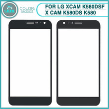 "New k580 LCD Touch Screen front Glass Lens For LG XCAM K580DSF X CAM K580DS K580 5.2"" Touch Sensor Front Outer Glass Lens Cover(China)"