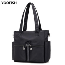 Fashion Women Nylon Handbag Ladies Casual Personality Shoulder Bags Simple Messenger Bag Travel free shipping.