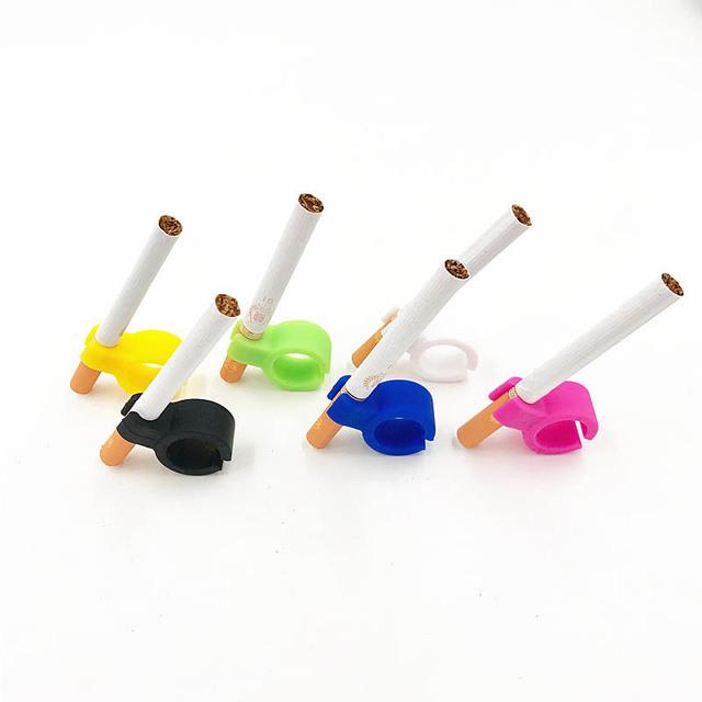New Design Silicone Ring  Durable Regular Smoking Smoker Smoking Accessories Portable 1Pcs  Finger Hand Rack Cigarette Holder