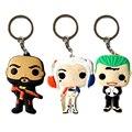 3 unids/set Funko POP Modelo Llavero DC Comando Suicida Joker Harley Llavero 6 cm Figura PVC Llavero