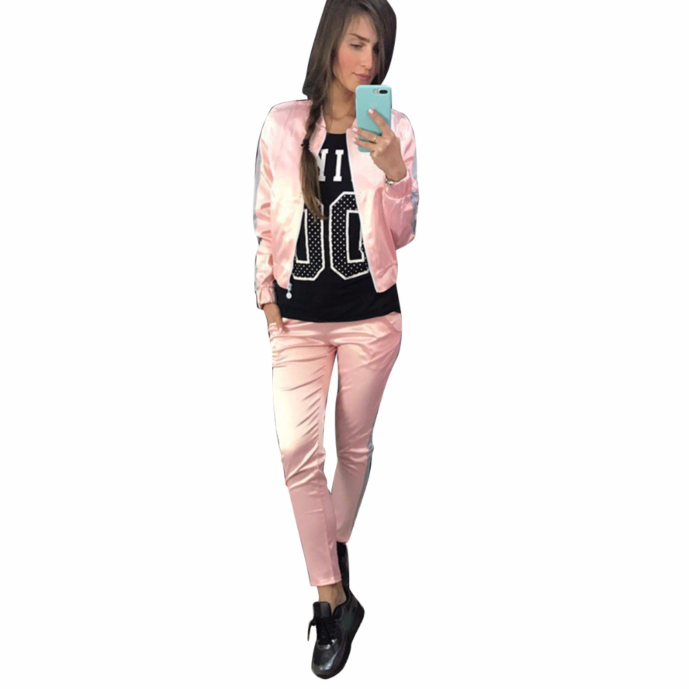 Women s Two Piece Set Tracksuits for women Top And Pants Zipper Fly Sweatshirts Long Sleeve