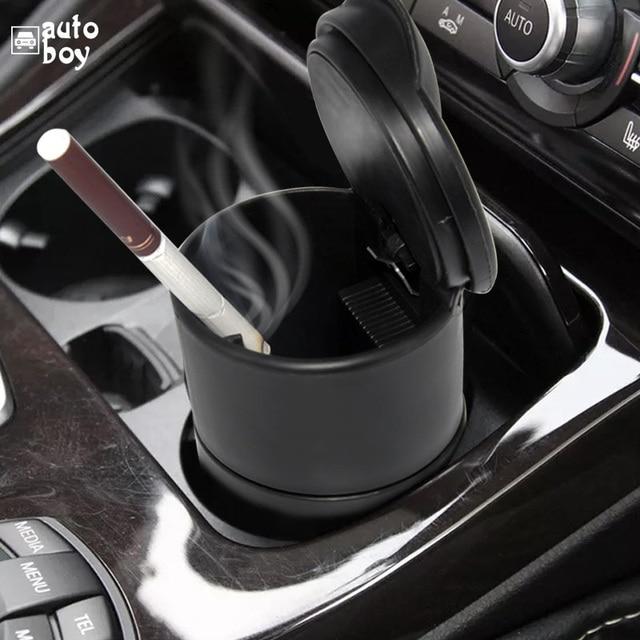 1PCS Portable Car Ashtray Truck Auto Office Cigarette Ashtray Holder Box Case Black New Arrival Car Styling Storage