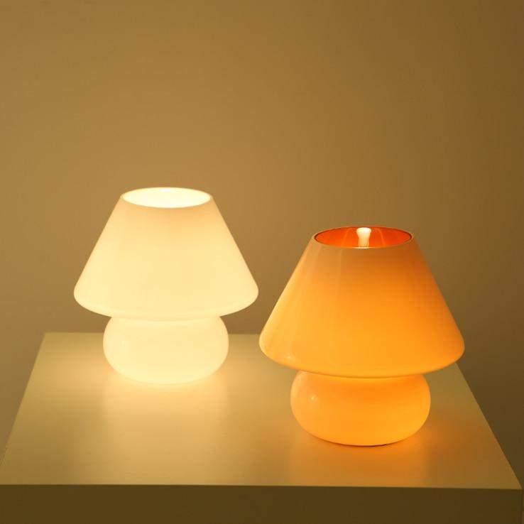 Perfect Special Childrenu0027s Night Light Mushroom Lamp IKEA Creative Cute Orange  Glass Saving Small Bedside Lamp Bedroom In Night Lights From Lights U0026  Lighting On ...