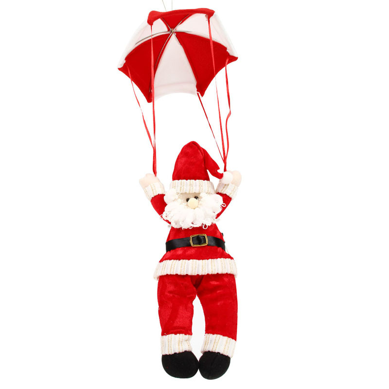 Christmas Ornament Snowman Santa Claus Parachute Jump Home Ceiling Decorations Supplies Hanging Gift Xmas Tree Pendent In Pendant Drop Ornaments